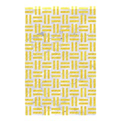 Woven1 White Marble & Yellow Colored Pencil (r) Shower Curtain 48  X 72  (small)  by trendistuff