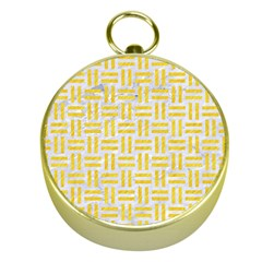 Woven1 White Marble & Yellow Colored Pencil (r) Gold Compasses by trendistuff