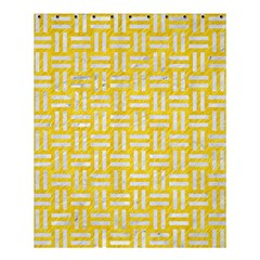 Woven1 White Marble & Yellow Colored Pencil Shower Curtain 60  X 72  (medium)  by trendistuff