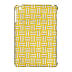 Woven1 White Marble & Yellow Colored Pencil Apple Ipad Mini Hardshell Case (compatible With Smart Cover) by trendistuff