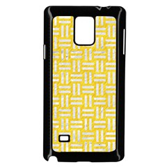 Woven1 White Marble & Yellow Colored Pencil Samsung Galaxy Note 4 Case (black) by trendistuff