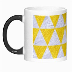 Triangle3 White Marble & Yellow Colored Pencil Morph Mugs by trendistuff