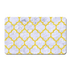 Tile1 White Marble & Yellow Colored Pencil (r) Magnet (rectangular) by trendistuff
