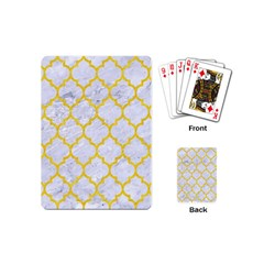 Tile1 White Marble & Yellow Colored Pencil (r) Playing Cards (mini)  by trendistuff
