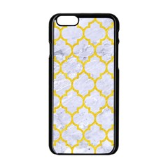 Tile1 White Marble & Yellow Colored Pencil (r) Apple Iphone 6/6s Black Enamel Case by trendistuff