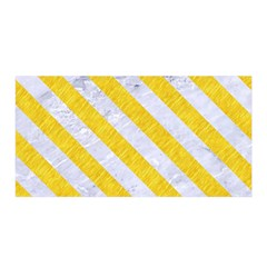 Stripes3 White Marble & Yellow Colored Pencil Satin Wrap by trendistuff