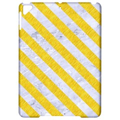 Stripes3 White Marble & Yellow Colored Pencil Apple Ipad Pro 9 7   Hardshell Case by trendistuff