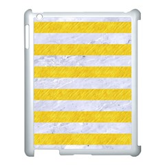 Stripes2white Marble & Yellow Colored Pencil Apple Ipad 3/4 Case (white) by trendistuff