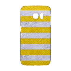 Stripes2white Marble & Yellow Colored Pencil Galaxy S6 Edge by trendistuff