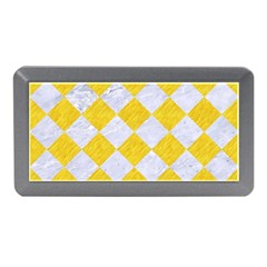Square2 White Marble & Yellow Colored Pencil Memory Card Reader (mini) by trendistuff