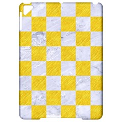Square1 White Marble & Yellow Colored Pencil Apple Ipad Pro 9 7   Hardshell Case by trendistuff