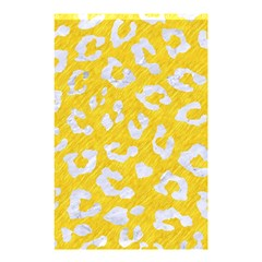 Skin5 White Marble & Yellow Colored Pencil (r) Shower Curtain 48  X 72  (small)  by trendistuff