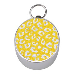 Skin5 White Marble & Yellow Colored Pencil (r) Mini Silver Compasses by trendistuff