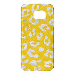 Skin5 White Marble & Yellow Colored Pencil (r) Samsung Galaxy S7 Edge Hardshell Case by trendistuff