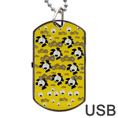 Bikers Out Singing In Spring Time Dog Tag Usb Flash (one Side) by pepitasart