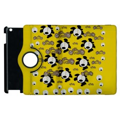Bikers Out Singing In Spring Time Apple Ipad 3/4 Flip 360 Case by pepitasart