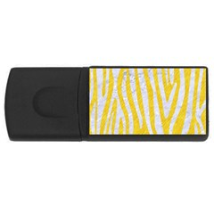 Skin4 White Marble & Yellow Colored Pencil (r) Rectangular Usb Flash Drive by trendistuff