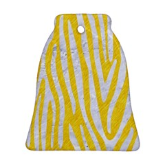 Skin4 White Marble & Yellow Colored Pencil (r) Bell Ornament (two Sides) by trendistuff