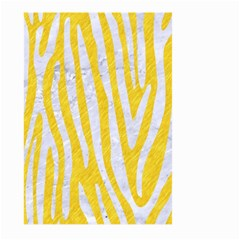 Skin4 White Marble & Yellow Colored Pencil (r) Large Garden Flag (two Sides) by trendistuff
