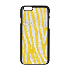 Skin4 White Marble & Yellow Colored Pencil (r) Apple Iphone 6/6s Black Enamel Case by trendistuff