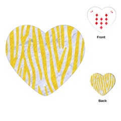 Skin4 White Marble & Yellow Colored Pencil Playing Cards (heart)  by trendistuff