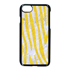 Skin4 White Marble & Yellow Colored Pencil Apple Iphone 8 Seamless Case (black)