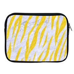 Skin3 White Marble & Yellow Colored Pencil (r) Apple Ipad 2/3/4 Zipper Cases by trendistuff