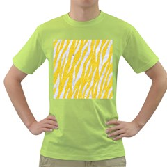 Skin3 White Marble & Yellow Colored Pencil Green T Shirt