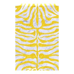 Skin2 White Marble & Yellow Colored Pencil (r) Shower Curtain 48  X 72  (small)  by trendistuff