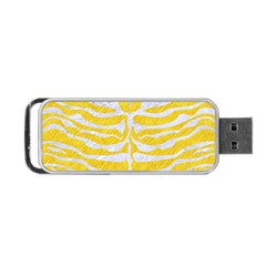 Skin2 White Marble & Yellow Colored Pencil Portable Usb Flash (one Side) by trendistuff