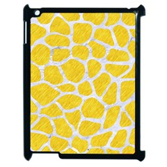 Skin1 White Marble & Yellow Colored Pencil (r) Apple Ipad 2 Case (black) by trendistuff