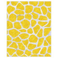 Skin1 White Marble & Yellow Colored Pencil (r) Drawstring Bag (small) by trendistuff