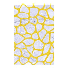 Skin1 White Marble & Yellow Colored Pencil Shower Curtain 48  X 72  (small)  by trendistuff