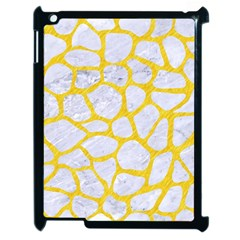 Skin1 White Marble & Yellow Colored Pencil Apple Ipad 2 Case (black) by trendistuff