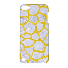Skin1 White Marble & Yellow Colored Pencil Apple Ipod Touch 5 Hardshell Case by trendistuff