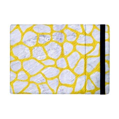 Skin1 White Marble & Yellow Colored Pencil Apple Ipad Mini Flip Case by trendistuff