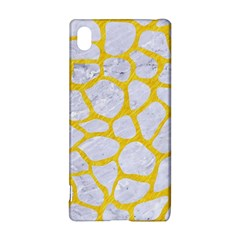 Skin1 White Marble & Yellow Colored Pencil Sony Xperia Z3+ by trendistuff
