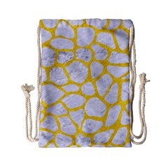 Skin1 White Marble & Yellow Colored Pencil Drawstring Bag (small) by trendistuff