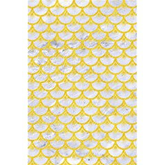 Scales3 White Marble & Yellow Colored Pencil (r) 5 5  X 8 5  Notebooks by trendistuff