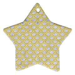 Scales2 White Marble & Yellow Colored Pencil (r) Ornament (star) by trendistuff