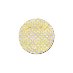 Scales2 White Marble & Yellow Colored Pencil (r) Golf Ball Marker (4 Pack) by trendistuff