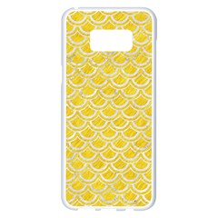 Scales2 White Marble & Yellow Colored Pencil Samsung Galaxy S8 Plus White Seamless Case by trendistuff