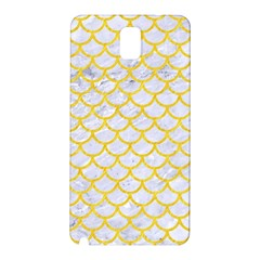 Scales1 White Marble & Yellow Colored Pencil (r) Samsung Galaxy Note 3 N9005 Hardshell Back Case