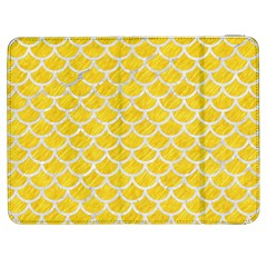 Scales1 White Marble & Yellow Colored Pencil Samsung Galaxy Tab 7  P1000 Flip Case by trendistuff
