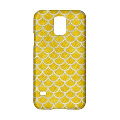 Scales1 White Marble & Yellow Colored Pencil Samsung Galaxy S5 Hardshell Case  by trendistuff
