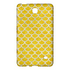 Scales1 White Marble & Yellow Colored Pencil Samsung Galaxy Tab 4 (8 ) Hardshell Case  by trendistuff