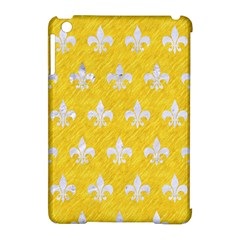 Royal1 White Marble & Yellow Colored Pencil (r) Apple Ipad Mini Hardshell Case (compatible With Smart Cover) by trendistuff