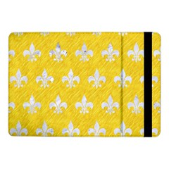 Royal1 White Marble & Yellow Colored Pencil (r) Samsung Galaxy Tab Pro 10 1  Flip Case by trendistuff