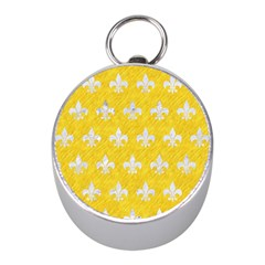 Royal1 White Marble & Yellow Colored Pencil (r) Mini Silver Compasses by trendistuff