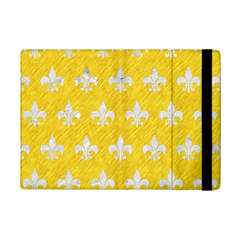 Royal1 White Marble & Yellow Colored Pencil (r) Ipad Mini 2 Flip Cases by trendistuff